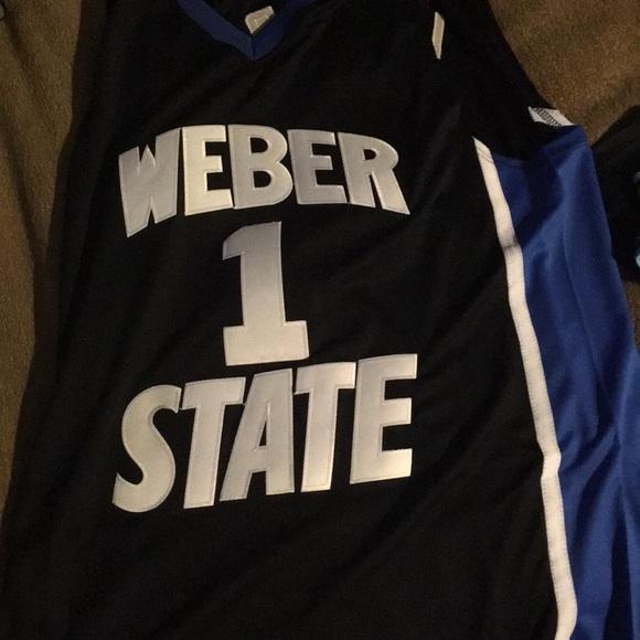 sports shoes 4ef6f eea61 Damian Lillard Weber State Jersey (college)